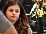 Selena Gomez looks glum as she emerges for first time since 'split from Justin Bieber' after his 'date with model Barbara Palvin'