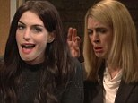 Anne Hathaway pokes fun at Claire Danes and Katie Holmes during hilarious performance on Saturday Night Live