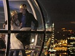 What a view! Scott, Kourtney and Mason check out the 360 degree view of London on their date night