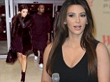 Busy bee: Kim Kardashian wore the same outfit all day - which is unusual for the reality star