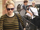 It takes two! Anna Paquin and Stephen Moyer make light work of transporting their baby twins
