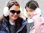 I wanna be like you! Mini-me Suri Cruise nabs mum Katie Holmes's style