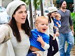 Moving on? Selma Blair steps out with a mystery man while holding her smiling baby