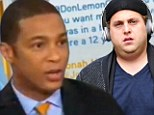 Jonah Hill, right, and Don Lemon, left, in Twitter war-of-words