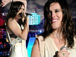 Rumer Willis the budding singer pairs her white silky gown with combat boots