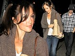 Date night: Minka Kelly and Chris Evans have romantic dinner at Sushi Taiyo