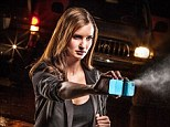 Starring role: Former beauty queen Stacey Kole has been recruited to promote SpayTect, a self defense gadget, that combines an iPhone case with pepper spray