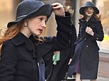 Don't blow away! Jessica Chastain bundles up in a warm woolly hat as she braves the post-storm New York chill