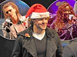 The Wanted, Carolynne Poole and Mischa B perform in Manchester Christmas celebration