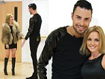 Look who's turned into an Essex girl! Geri Halliwell slips into thigh high boots, LBD and fur coat to teach X Factor's Rylan Clarke some dancefloor moves