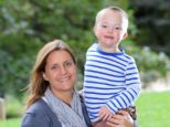 Adorable: Caroline White with her four-year-old son Seb White, star of M&S's Christmas ads