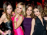 Girl's weekend! Ashley Tisdale (in pink) enjoyed a road trip to Las Vegas with her BFFs and fellow starlets Samantha Raye Droke, Kim Hidalgo, and Sarah Hyland this weekend