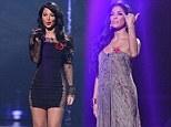 Tulisa's flagging again in X Factor style wars as Nicole Scherzinger trounces her again in flowing maxi dress