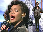 Rihanna performed Diamonds for the first time live on SNL