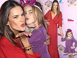 Model Alessandra Ambrosio and daughter Anja Mazur arrive at Sofia the First: Once Upon a Princess premiere at Walt Disney Studios in Burbank, California
