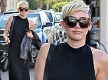 Miley Cyrus looks extra chic in an all black outfit on Saturday