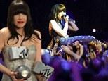 Canadian singer Carly Rae Jepsen performs during the MTV European Music Awards 2012