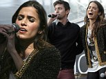 A treat for the Twihards! Nikki Reed and Jackson Rathbone perform for fans camped out ahead of Breaking Dawn Part II premiere