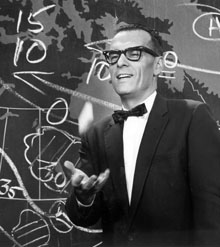 Saltzman, doing his trademark toss of the chalk, pioneered a number of techniques now firmly established in weather reporting, including using radar and satellite.