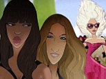 Lady Gaga, Sarah Jessica Parker and Naomi Campbell morph into Disney characters for Barneys new Christmas windows