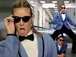 Showing off her model dance moves: Heidi Klum is latest celeb to perform 'Gangnam Style' in sketch with rapper Psy at MTV EMAs