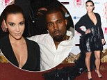 Kim Kardashian and Kanye West at the MTV VMAs