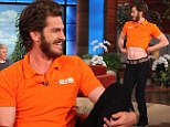 Andrew Garfield belly dances for Ellen as he reveals his beard makes him feel manly