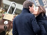 Eternal love! Kourtney Kardashian and Scott Disick padlock their passion at the famous Pont des Art in Paris