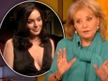 Already started: Barbara Walters revealed that Lindsay Lohan had cancelled a half-filmed interview with her, sharing this picture from the ore-recorded footage on The View