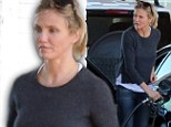 Nursing a hangover? Cameron Diaz is bleary-eyed in California after returning from Leo DiCaprio's New York birthday bash