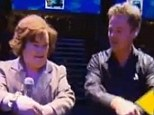 Giving it a go: Susan Boyle attempts the Gangnam Style dance with her teenage idol Donny Osmond