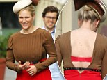 Zara Phillips shows off a red bra on an Australian photoshoot