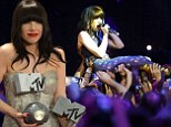 Canadian singer Carly Rae Jepsen performs during the MTV European Music Awards 2012