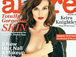 Bold: Keira Knightley on the December issue of America's Allure magazine