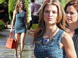 AnnaLynne McCord shows why she is the star of 90210 in a super short mini dress