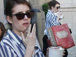 The sweet life: Emma Roberts enjoyed a shopping spree and ice cream splurge at The Grove in L.A. on Monday