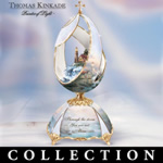 Thomas Kinkade Lights Of Hope Musical Egg Collection - Thomas Kinkade Lighthouse Music Boxes! 22K Gold Accents on Exclusive Limited-edition Peter Carl Faberge Style Musical Eggs!