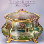 Thomas Kinkade Garden of Prayer Faith Music Box - A Thomas Kinkade First! Inspirational Prayer Music Box is an Exclusive, Heirloom Porcelain Limited Edition!