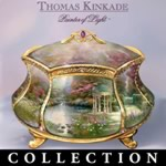 Thomas Kinkade Blessings Music Box Collection - A Thomas Kinkade First! Inspirational Musical Prayer Boxes in Exclusive Heirloom Porcelain® Limited Editions!