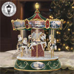 Thomas Kinkade Victorian Christmas Carousel - Thomas Kinkade Musical Carousel Celebrates the Joys of the Christmas Season with Light, Sound and Motion! Exclusive First!