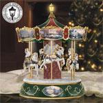 Thomas Kinkade Victorian Christmas Carousel - Thomas Kinkade Musical Carousel Celebrates the Joys of the Christmas Season with Light, Sound and Motion! Exclusive First!