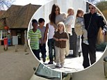 He'll need a bigger sack! Brad Pitt and Angelina Jolie's children send letters to Santa during England stay