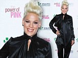 Nobody puts Pink in the corner: Singer shows off her crazy style at Los Angeles charity event