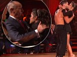 Sealed with a kiss: Kelly Monaco courts favour with DWTS judge Len Goodman as contestants face double elimination