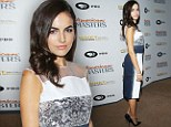 Camilla Belle looks stunning in patchwork