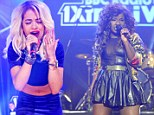 Not their best looks: Rita Ora and Misha B fail to impress in unflattering outfits as they take to the stage at 1xtra Live