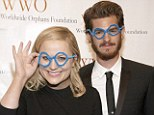 Not exactly specs appeal! Andrew Garfield and Amy Poehler get silly for a good cause with comedy glasses at charity gala