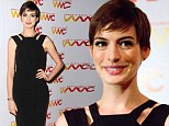 Anne Hathaway shows off skinny post-Les Miserables frame at the Women's Media Awards red carpet