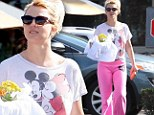 Still a Disney girl: Britney Spears wore a Mickey and Minnie T-shirt for an outing in LA over the weekend