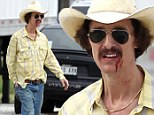 Bleeding for role: Matthew McConaughey sported a bloody lip on the set of his new movie, but it was all in character